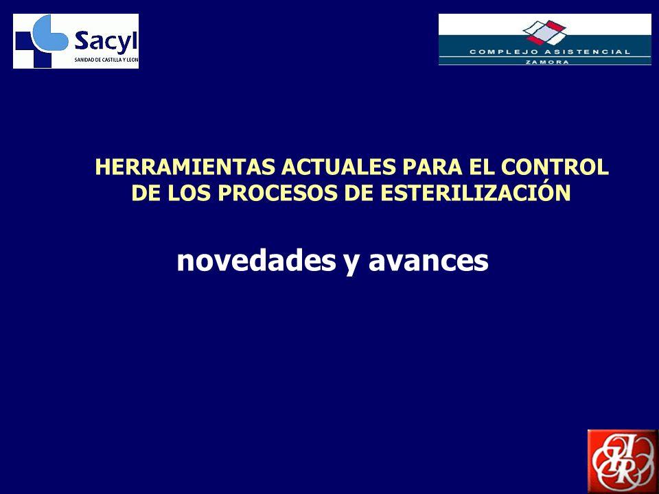 HERRAMIENTAS ACTUALES PARA EL CONTROL DE LOS PROCESOS DE ESTERILIZACIÓN