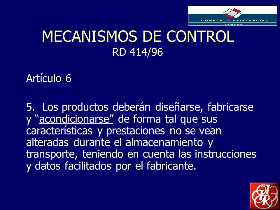 MECANISMOS DE CONTROL RD 414/96