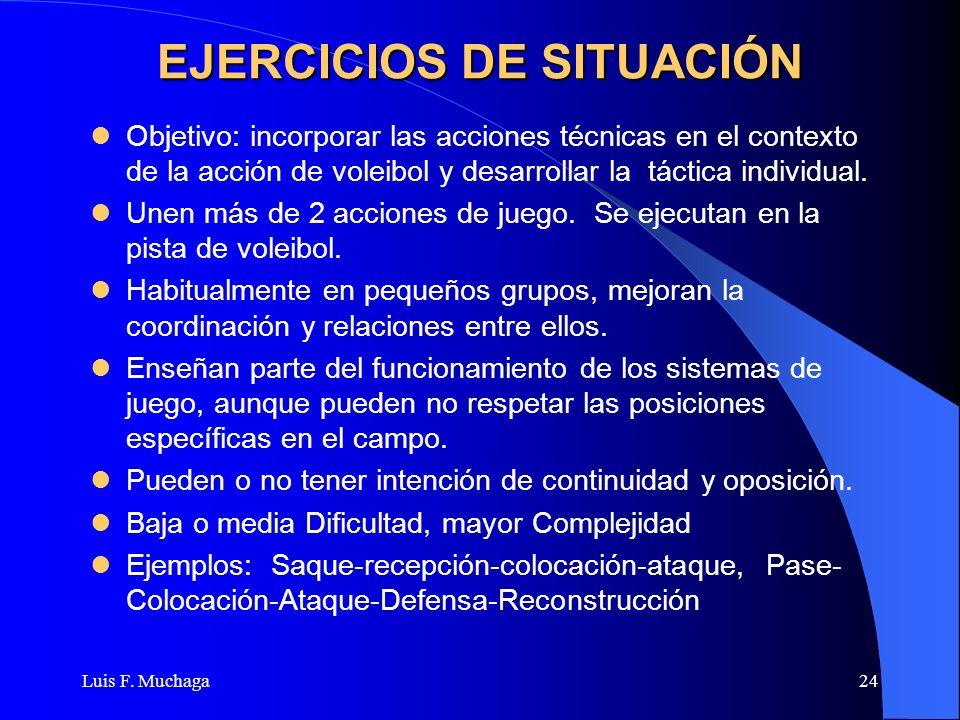 EJERCICIOS DE SITUACIÓN