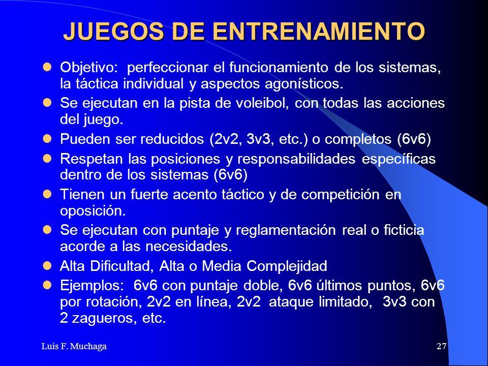 JUEGOS DE ENTRENAMIENTO