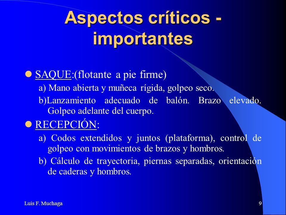 Aspectos críticos - importantes