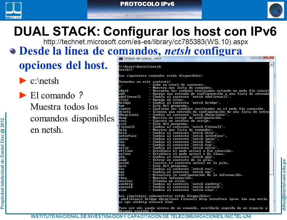 DUAL STACK: Configurar los host con IPv6