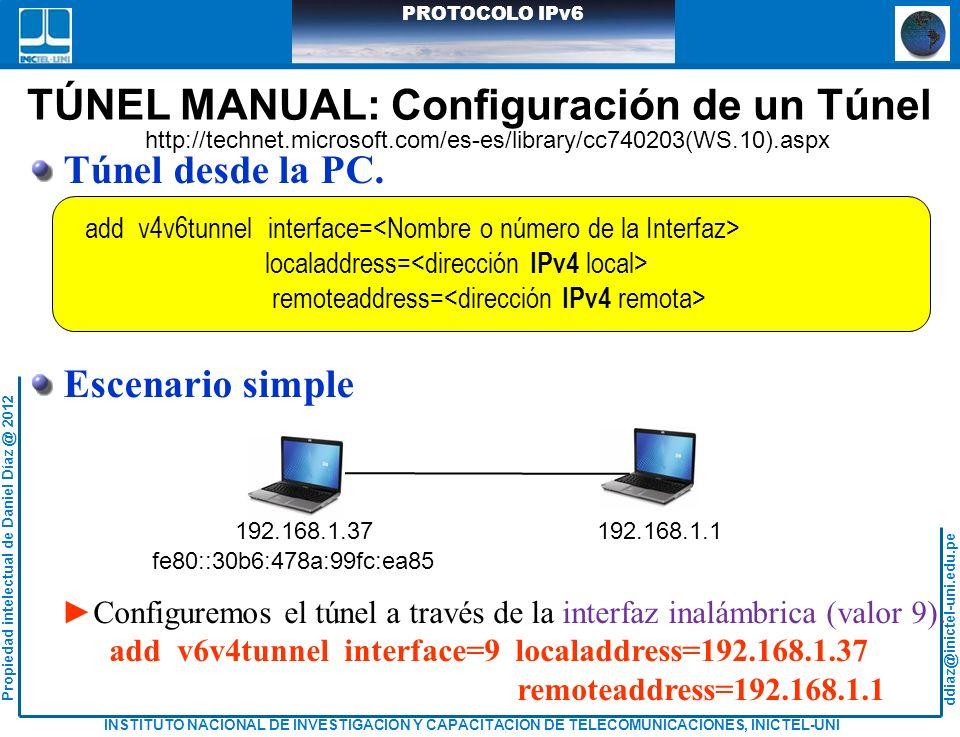 TÚNEL MANUAL: Configuración de un Túnel