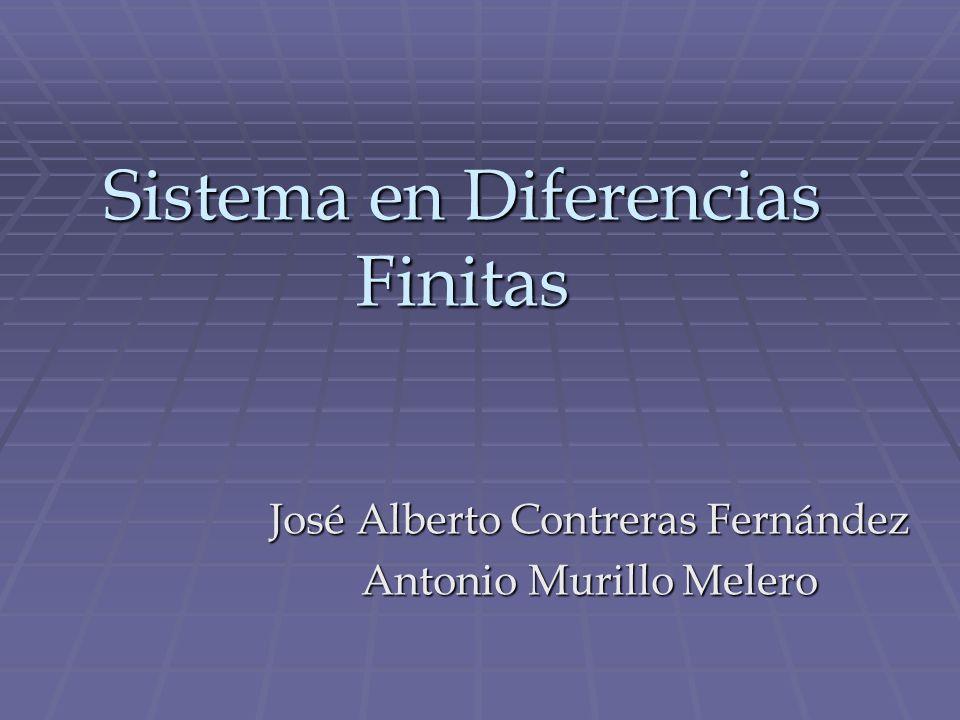 Sistema en Diferencias Finitas