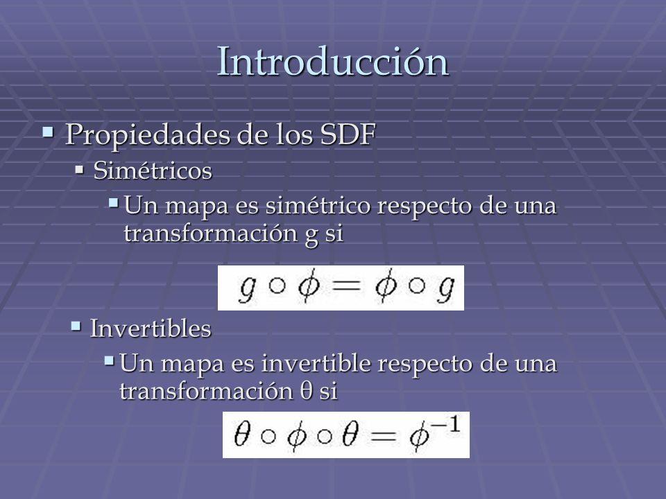 Introducción Propiedades de los SDF Simétricos