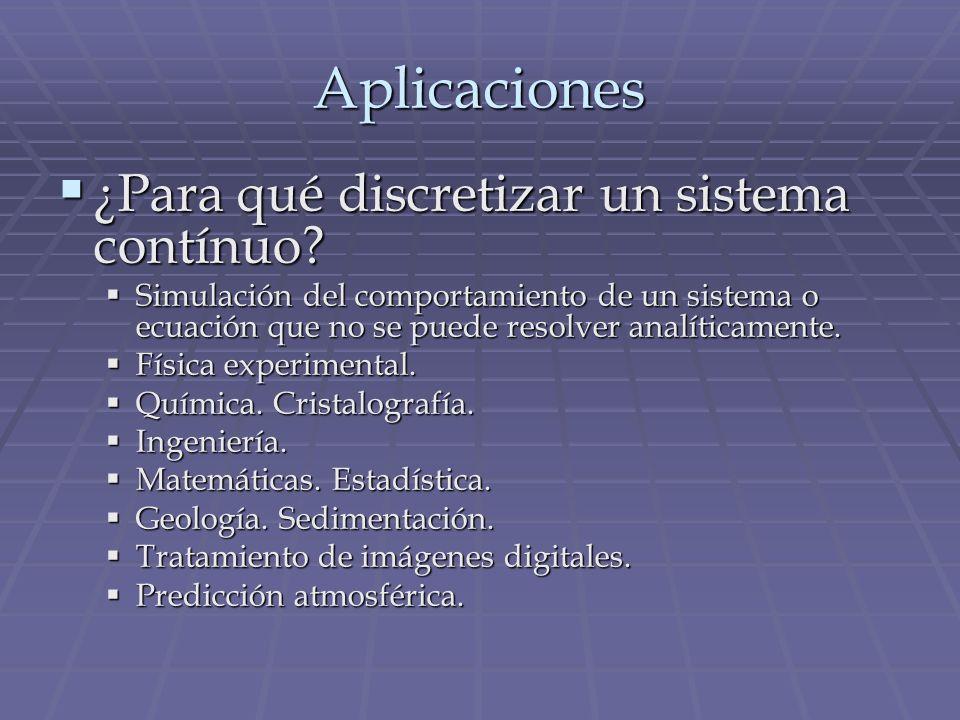 Aplicaciones ¿Para qué discretizar un sistema contínuo