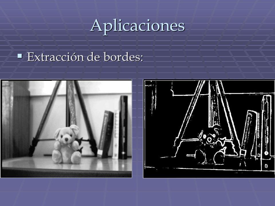 Aplicaciones Extracción de bordes: