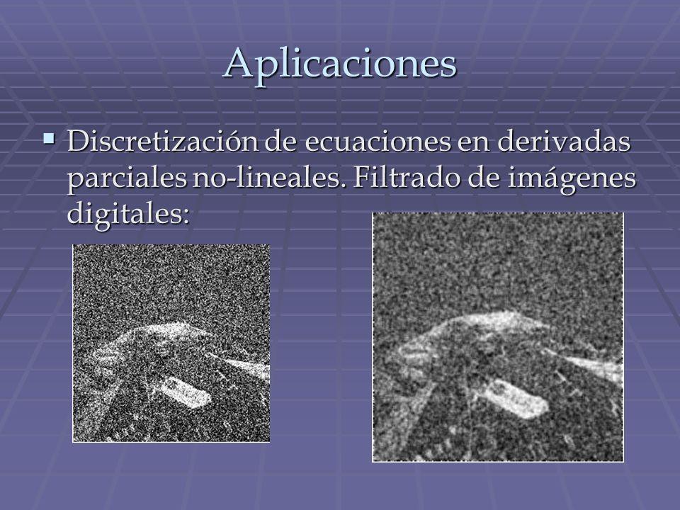 Aplicaciones Discretización de ecuaciones en derivadas parciales no-lineales.
