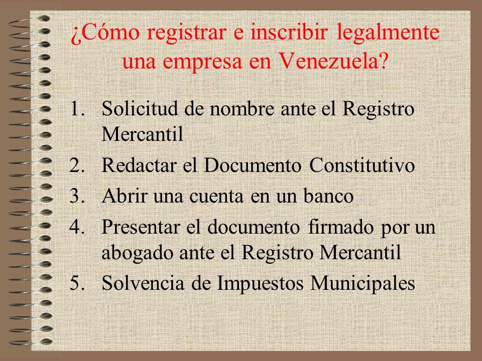 ¿Cómo registrar e inscribir legalmente una empresa en Venezuela