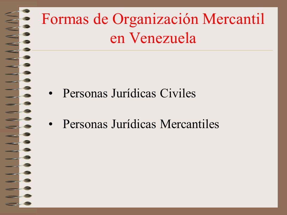 Formas de Organización Mercantil en Venezuela