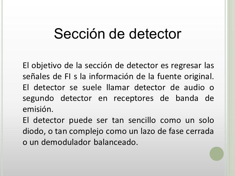 Sección de detector