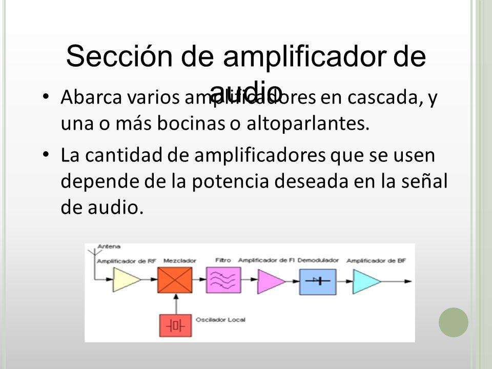 Sección de amplificador de audio