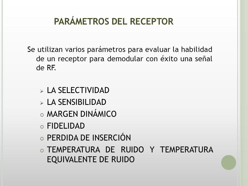 PARÁMETROS DEL RECEPTOR