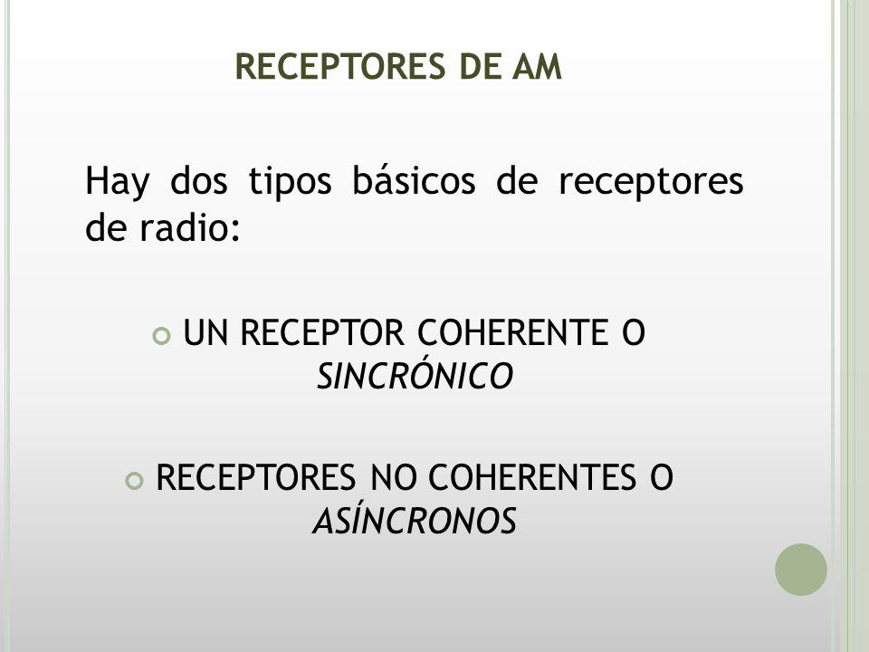 Hay dos tipos básicos de receptores de radio: