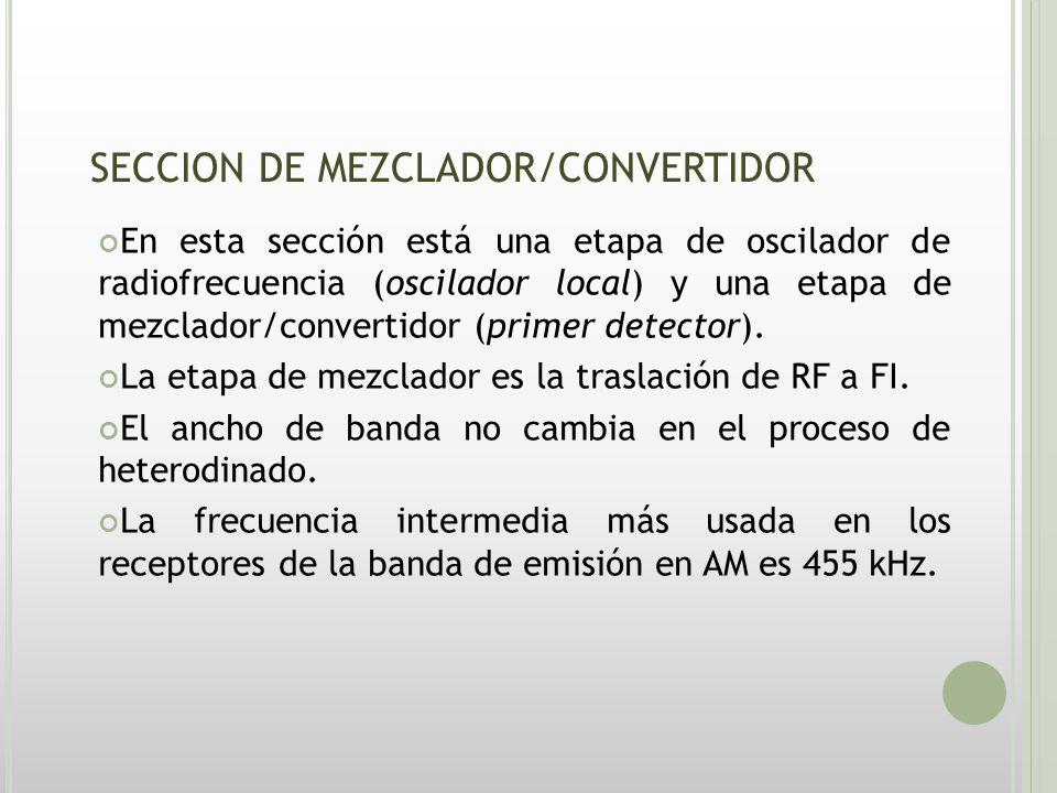 SECCION DE MEZCLADOR/CONVERTIDOR