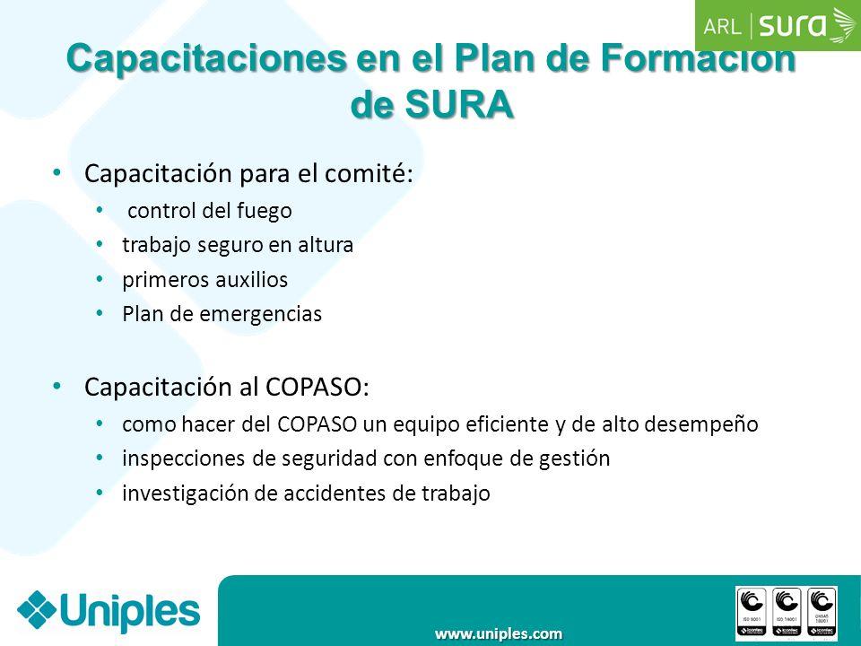 Capacitaciones en el Plan de Formación de SURA