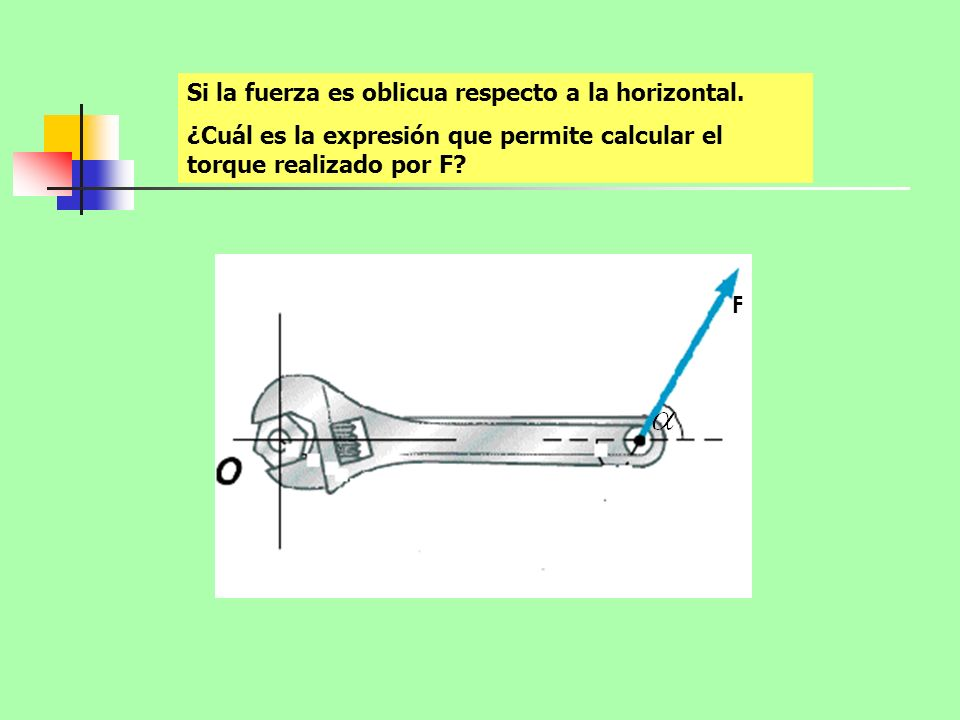 Si la fuerza es oblicua respecto a la horizontal.