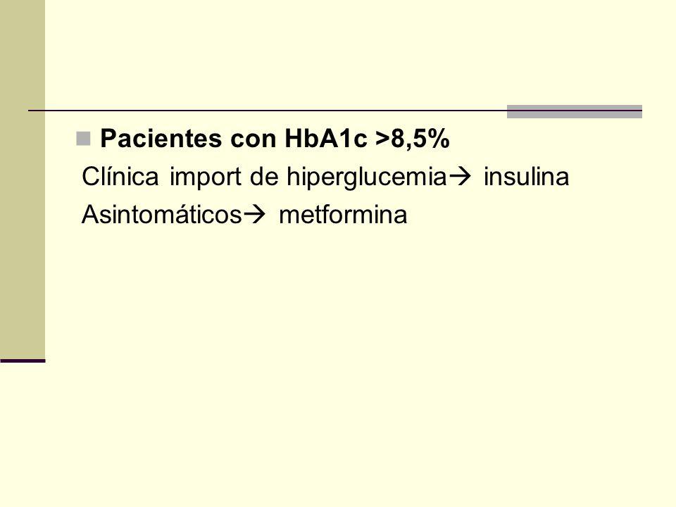 Pacientes con HbA1c >8,5%