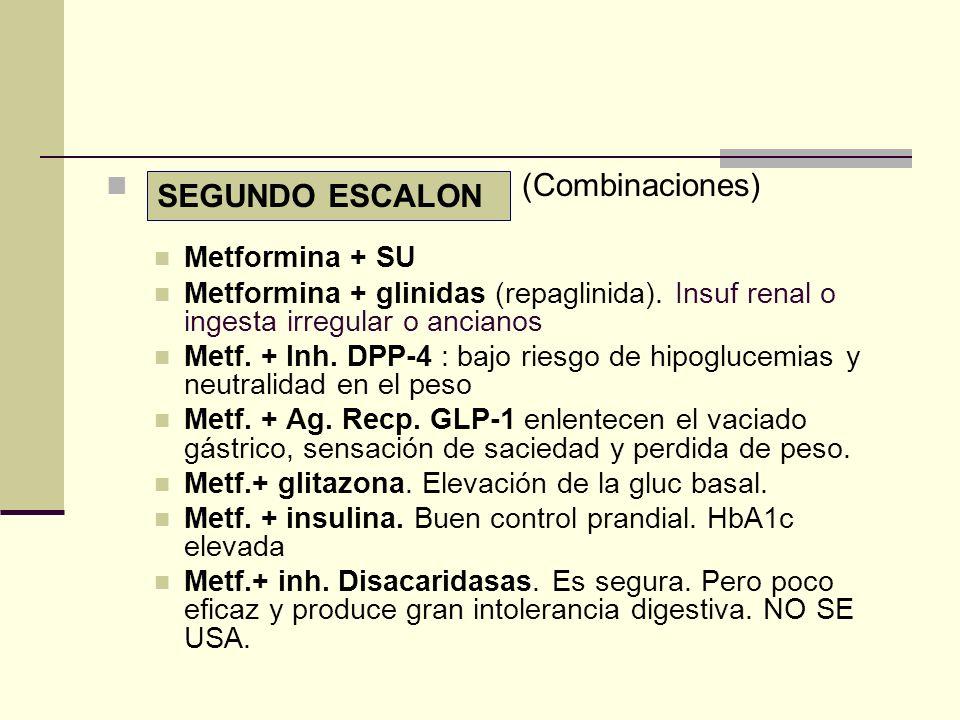 (Combinaciones) SEGUNDO ESCALON Metformina + SU