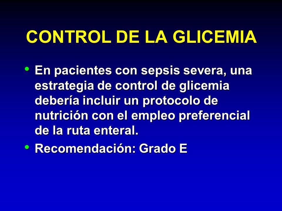 CONTROL DE LA GLICEMIA