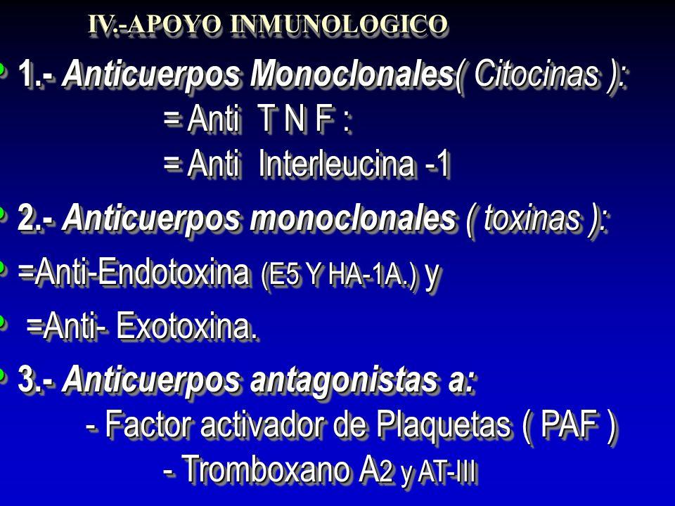 2.- Anticuerpos monoclonales ( toxinas ):