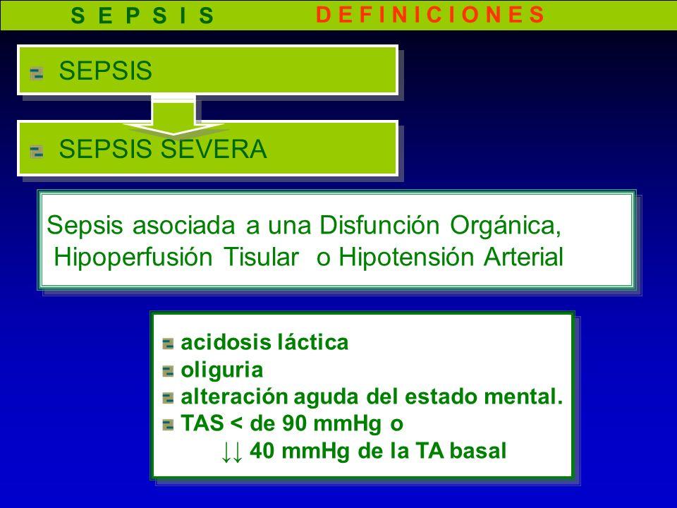 Sepsis asociada a una Disfunción Orgánica,