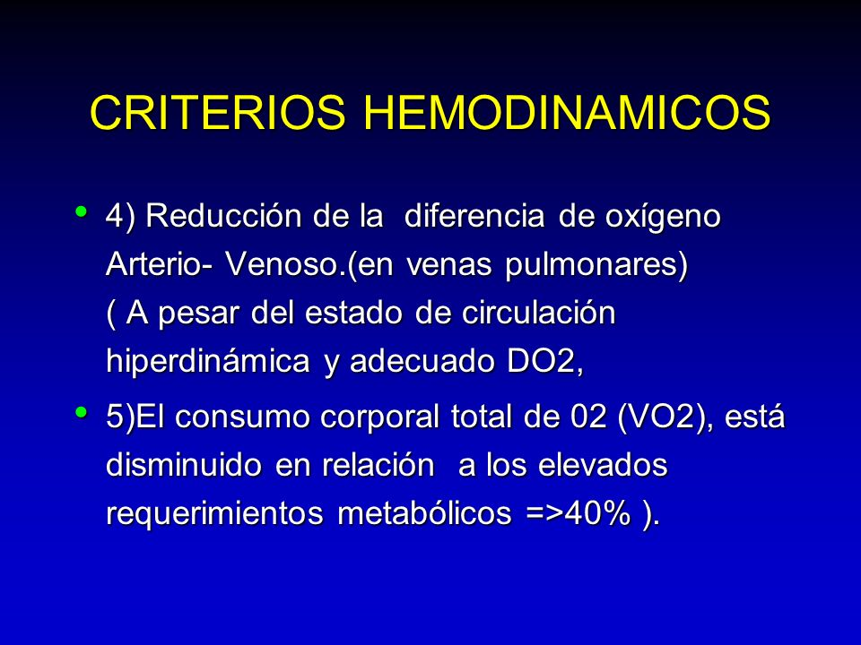 CRITERIOS HEMODINAMICOS