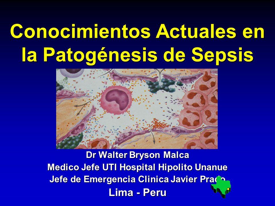 Conocimientos Actuales en la Patogénesis de Sepsis