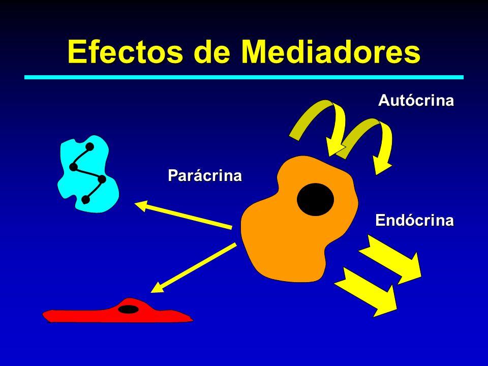 Efectos de Mediadores Autócrina Parácrina Endócrina