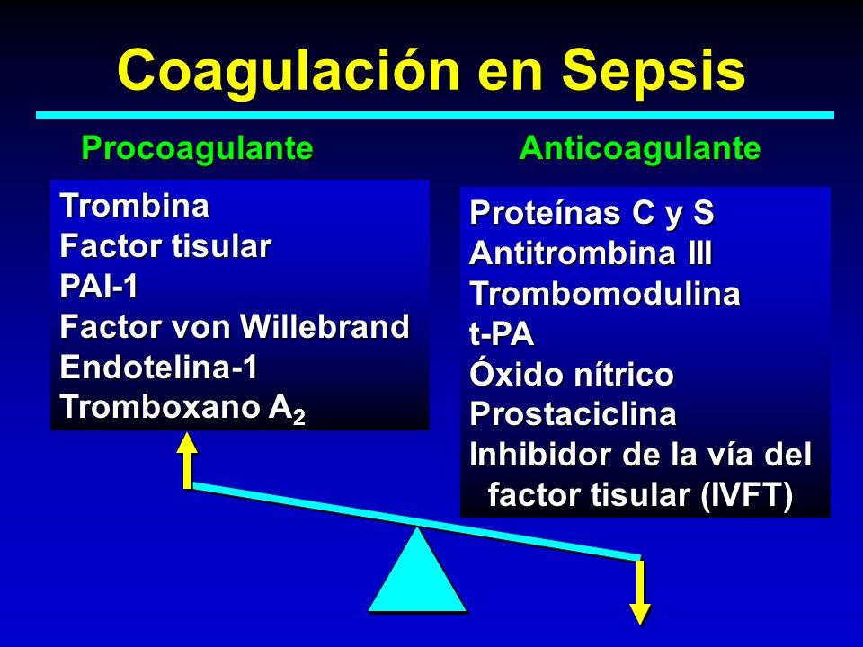Coagulación en Sepsis Procoagulante Anticoagulante Trombina