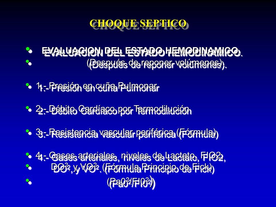 EVALUACION DEL ESTADO HEMODINAMICO.