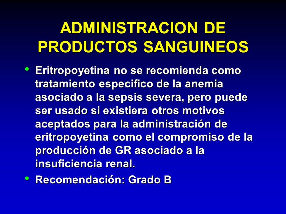 ADMINISTRACION DE PRODUCTOS SANGUINEOS