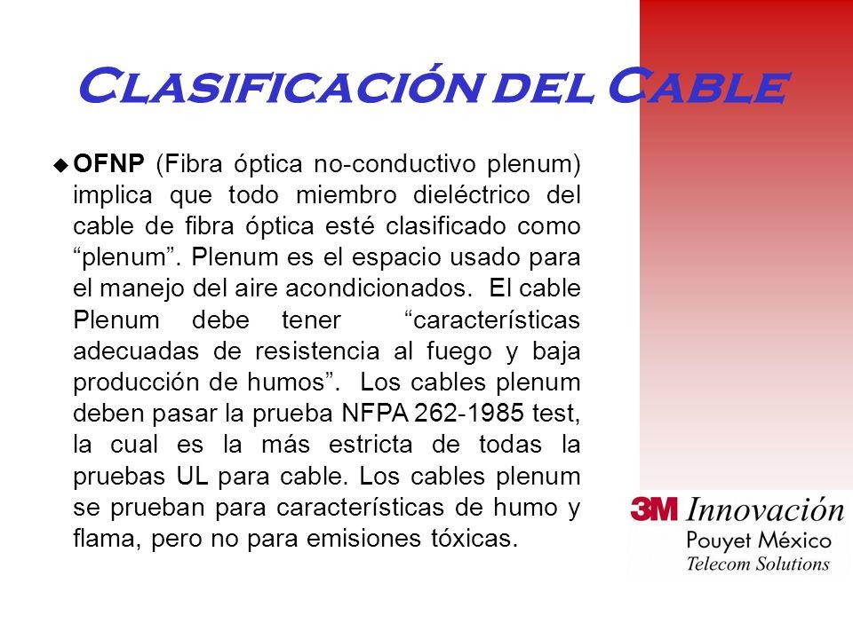 Clasificación del Cable