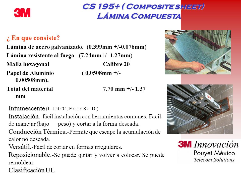 CS 195+ ( Composite sheet) Lámina Compuesta
