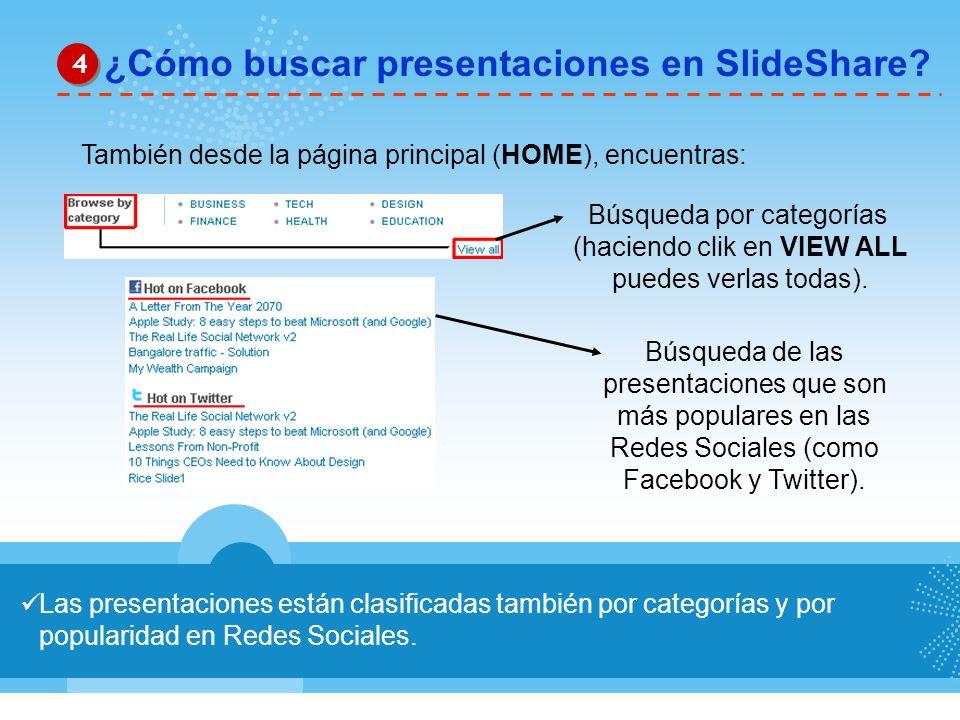 ¿Cómo buscar presentaciones en SlideShare
