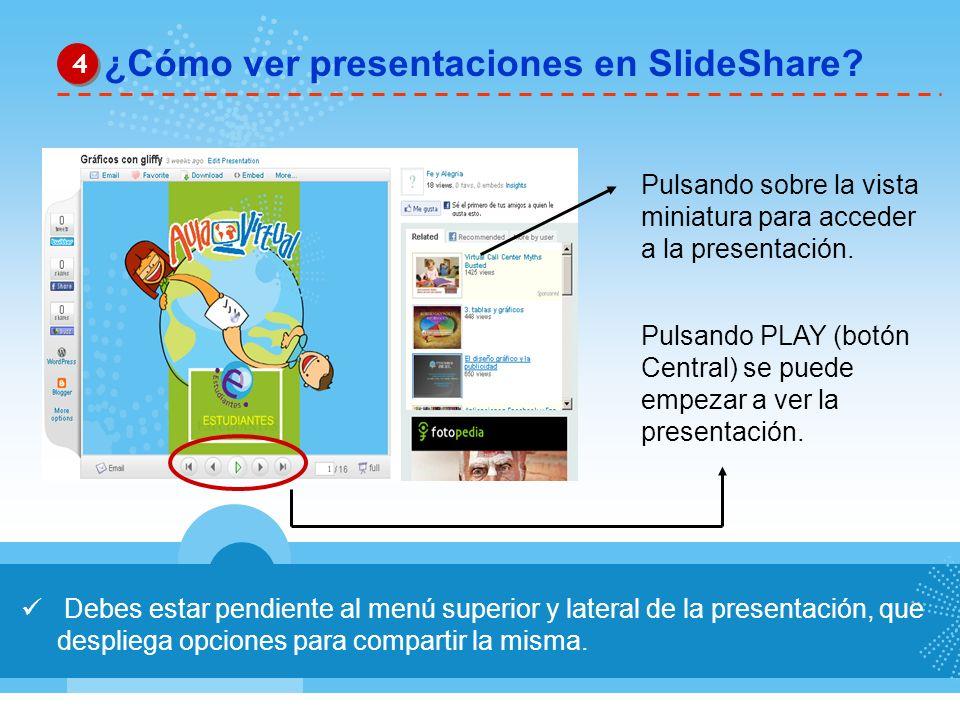 ¿Cómo ver presentaciones en SlideShare