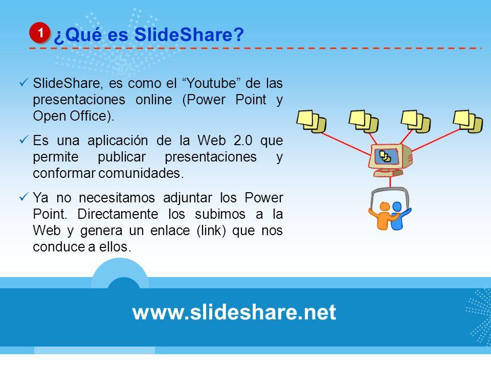 www.slideshare.net ¿Qué es SlideShare 1