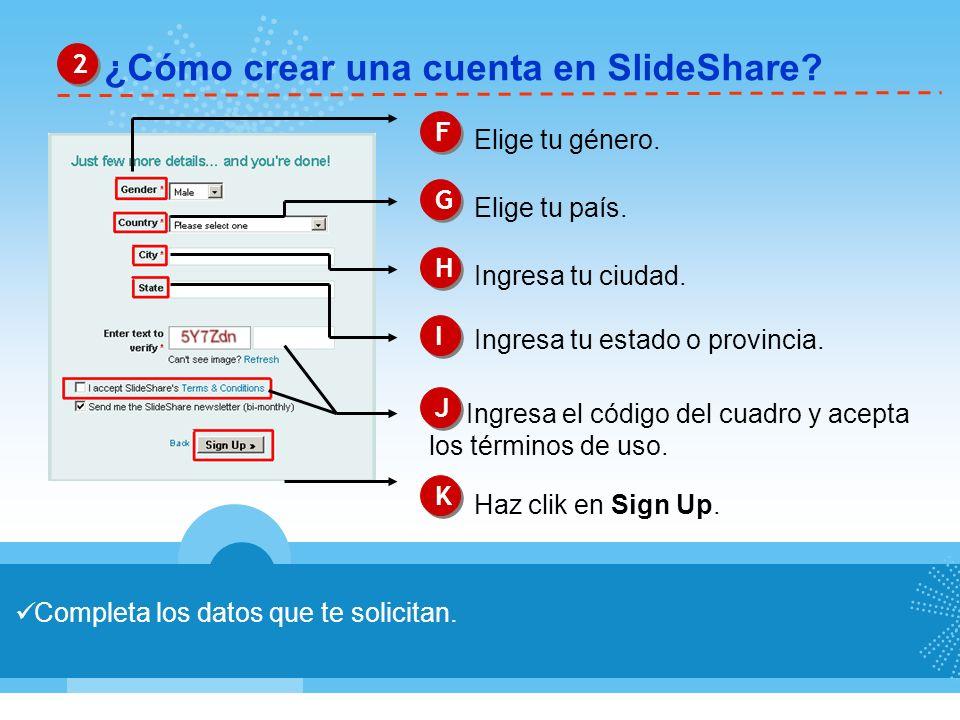 ¿Cómo crear una cuenta en SlideShare