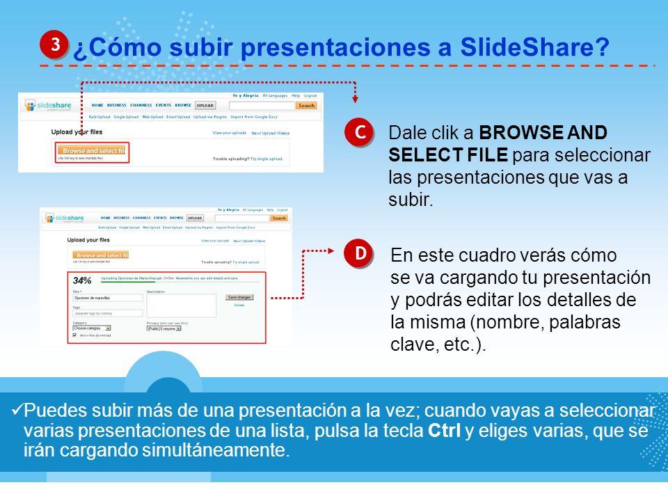 ¿Cómo subir presentaciones a SlideShare