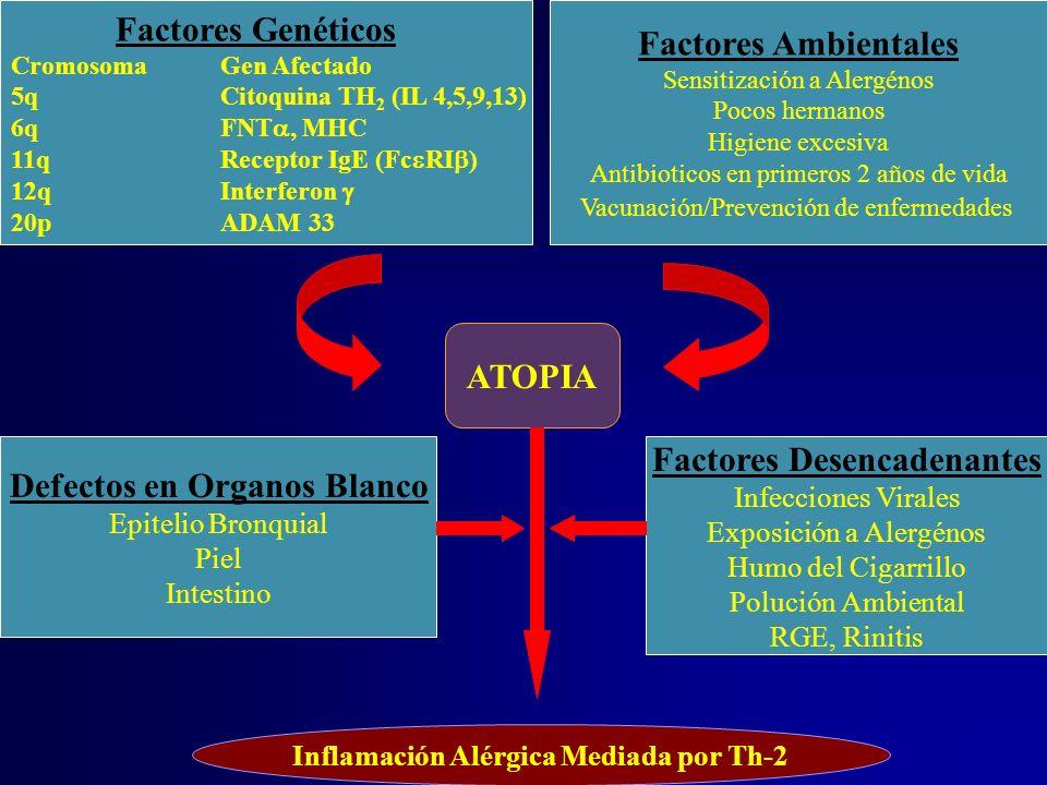 ATOPIA Defectos en Organos Blanco Factores Desencadenantes