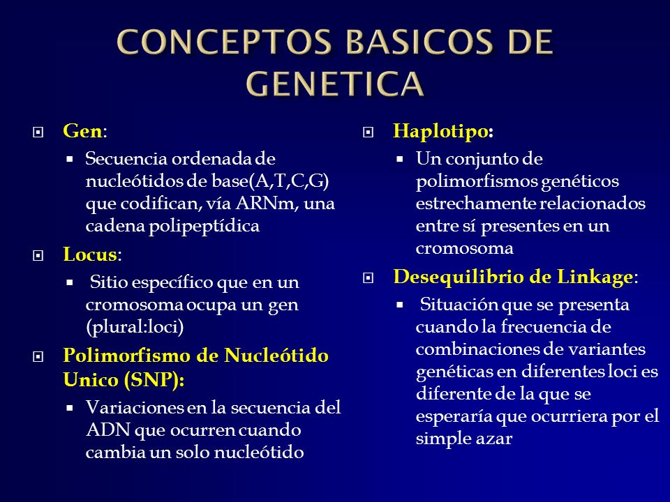 CONCEPTOS BASICOS DE GENETICA