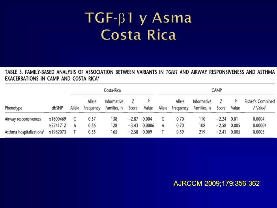 TGF-1 y Asma Costa Rica AJRCCM 2009;179:356-362