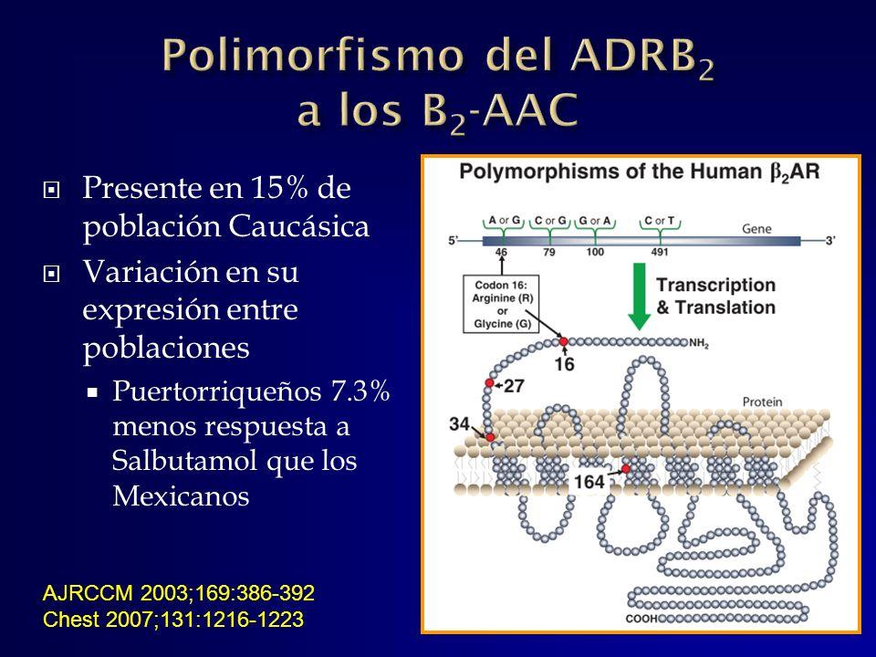 Polimorfismo del ADRB2 a los B2-AAC