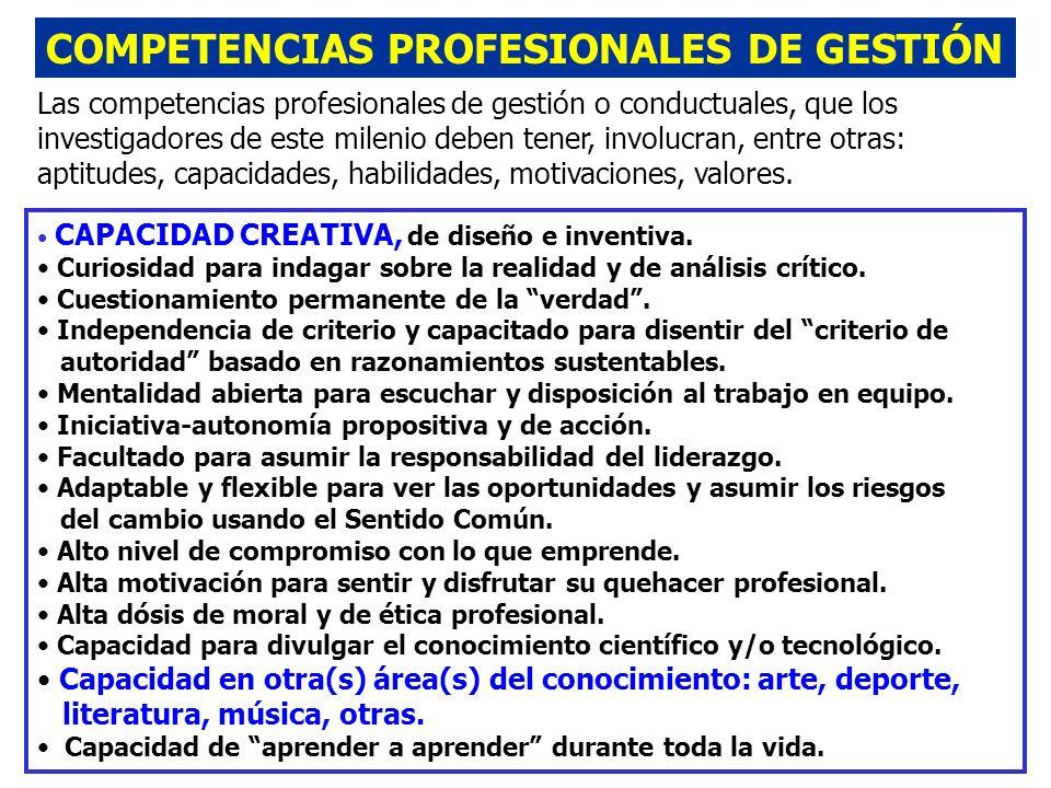 COMPETENCIAS PROFESIONALES DE GESTIÓN