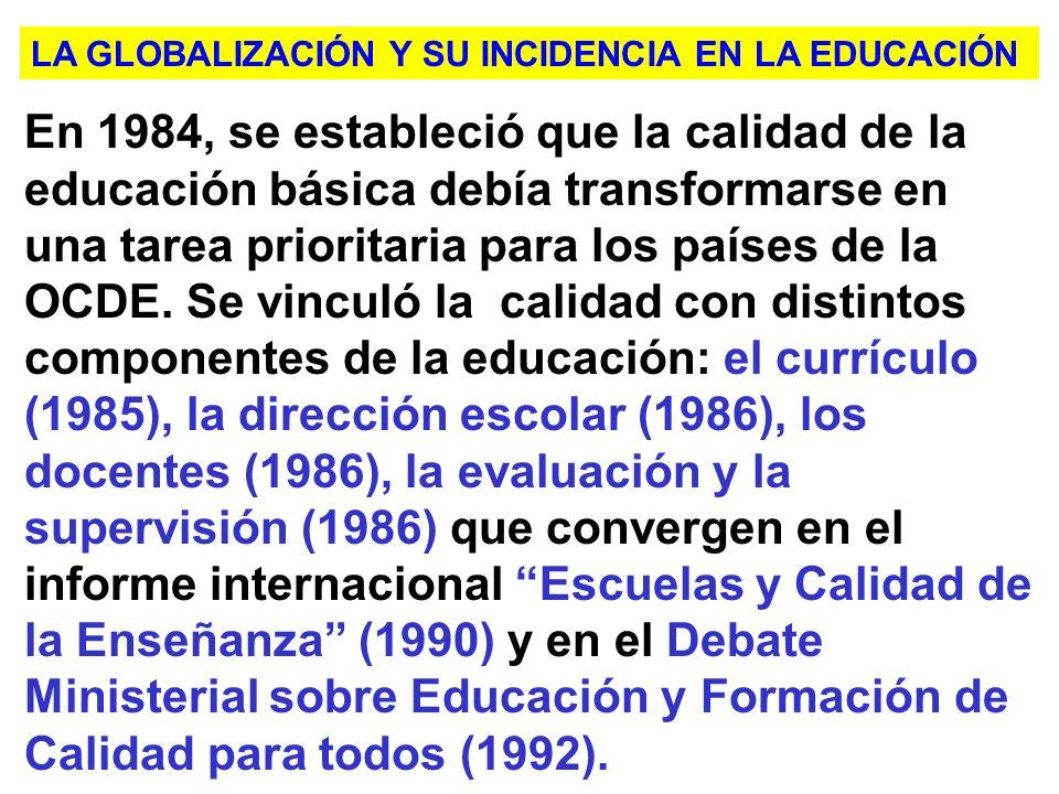 LA GLOBALIZACIÓN Y SU INCIDENCIA EN LA EDUCACIÓN
