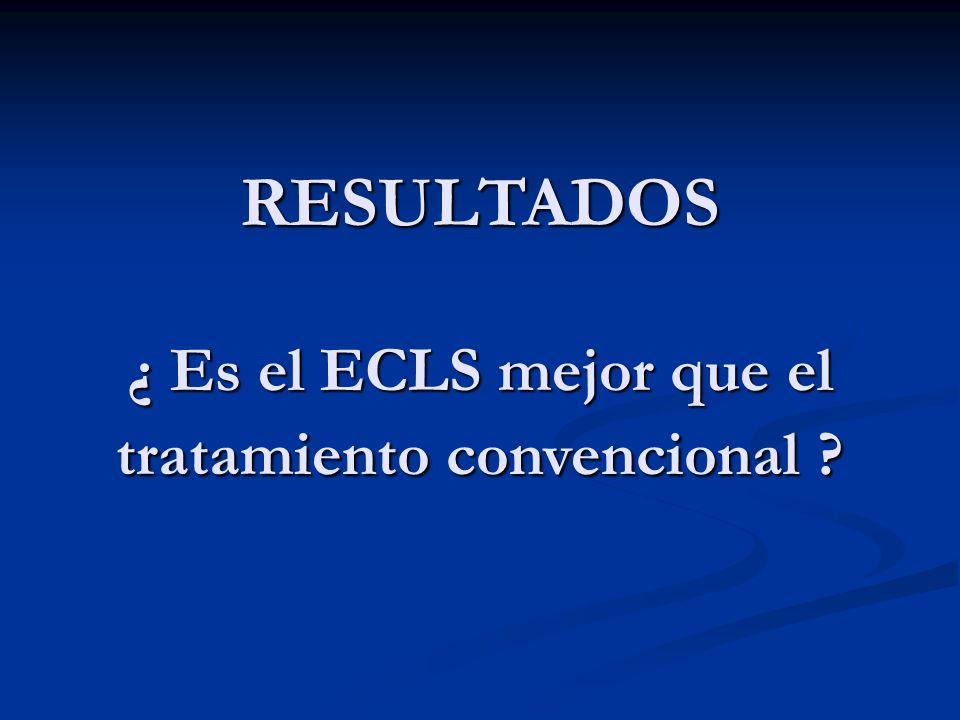 ¿ Es el ECLS mejor que el tratamiento convencional