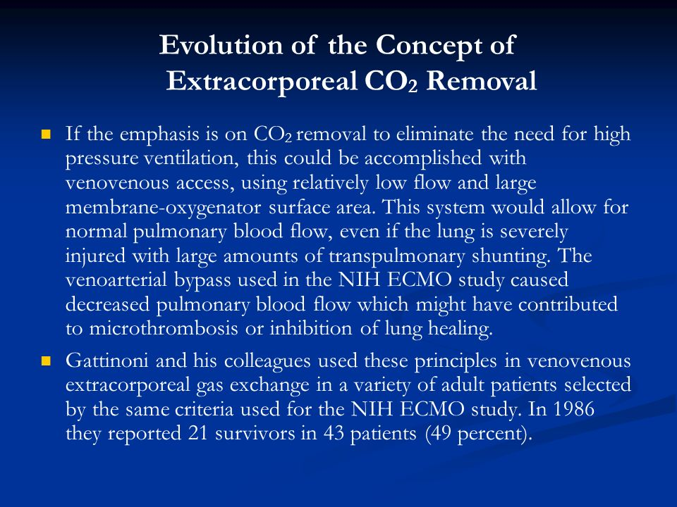Evolution of the Concept of Extracorporeal CO2 Removal