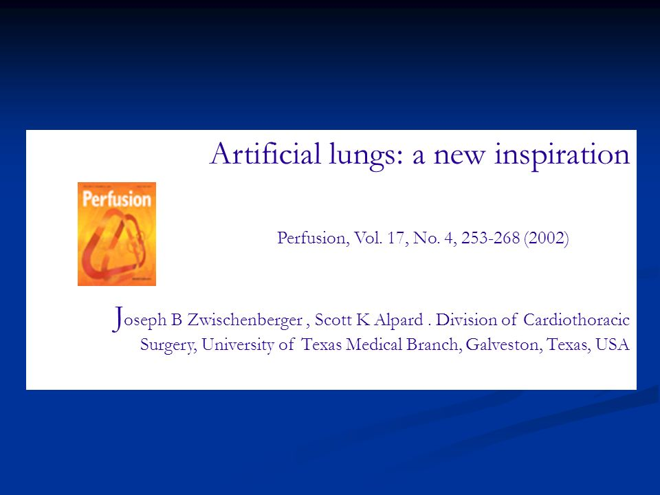 Artificial lungs: a new inspiration