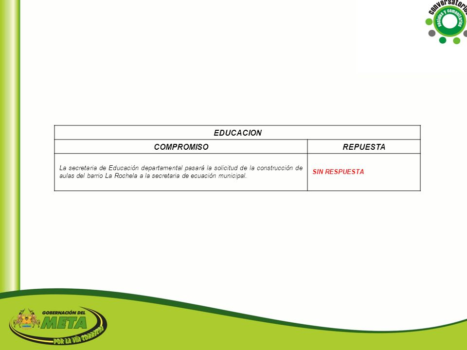 EDUCACION COMPROMISO REPUESTA