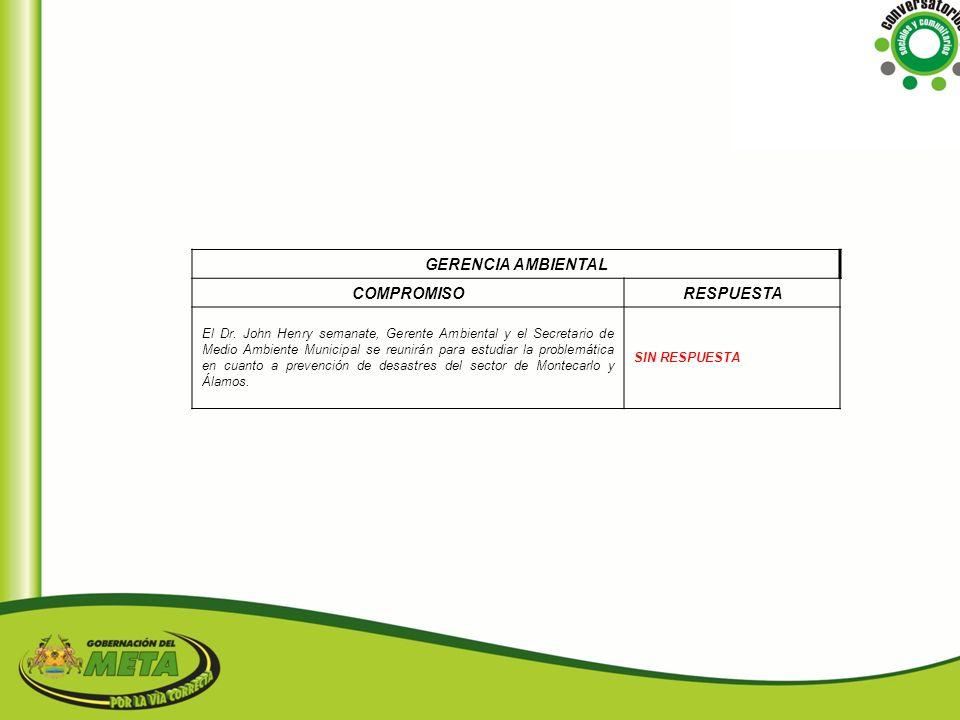GERENCIA AMBIENTAL COMPROMISO RESPUESTA